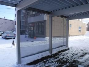 積雪時状況(防風ネット付き)3