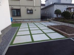 旭川市 外構 コンクリート平板 ドットペイブ1000