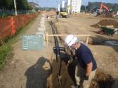 暗渠管 / 敷き砂敷均し