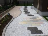 旭川市 外構 天然石 カラー砂利