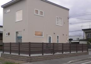 樹脂フェンス 施工事例 住宅囲い
