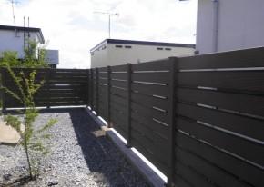 樹脂フェンス 施工事例 ブラウン2
